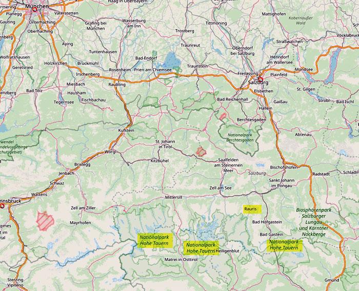 Hohe Tauern Karte.Krumltal Und Raurisertal Nationalpark Hohe Tauern Birding Mit