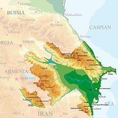 Aserbaidschan am Kaspischen Meer (Vorderasien)